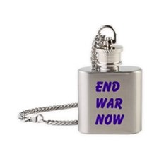 End War Now Flask Necklace