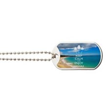 Keep Calm and Enjoy Hawaii (Shoulder Bag) Dog Tags