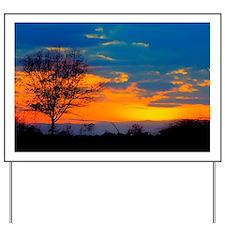 Lone laurel oak sunset Yard Sign