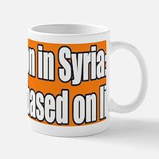 War on Syria Lies Bumper Sticker Mug