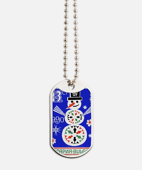 1989 Bulgaria  Holiday Snowman Postage St Dog Tags