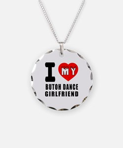 I Love My Butoh Dance Girlfriend Necklace