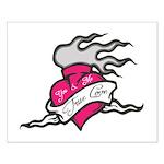 Heart tattoo true love Posters