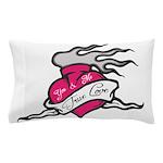 Heart tattoo true love Pillow Case