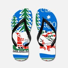 1989 Bulgaria Holiday Santa Claus Posta Flip Flops