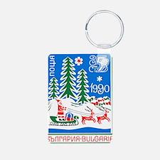 1989 Bulgaria Holiday Sant Aluminum Photo Keychain
