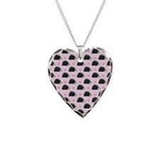 Cute Happy Hedgehog Pattern P Necklace