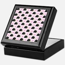 Cute Happy Hedgehog Pattern Pink Keepsake Box