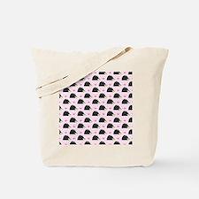 Cute Happy Hedgehog Pattern Pink Tote Bag