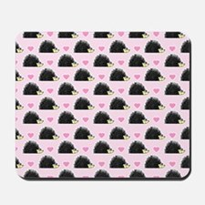 Cute Happy Hedgehog Pattern Pink Mousepad