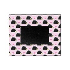 Cute Happy Hedgehog Pattern Pink Picture Frame