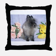 Lionhead Rabbit Throw Pillow