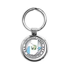 Guatemala Coban LDS Mission Flag Cu Round Keychain