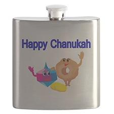 Happy Chanukah Flask