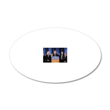 Press Conference 20x12 Oval Wall Decal