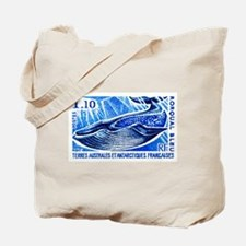 1977 French Southern Lands Blue Whale Stamp Tote B