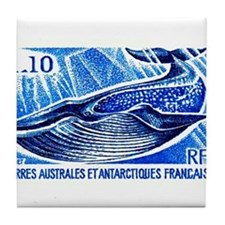 1977 French Southern Lands Blue Whale Stamp Tile C