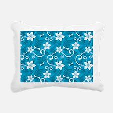 Tropical Floral Tiki Tur Rectangular Canvas Pillow