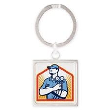 Refrigeration Air Conditioning Mec Square Keychain