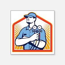 "Refrigeration Air Condition Square Sticker 3"" x 3"""