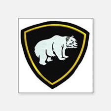 "Internal Troops, Siberian D Square Sticker 3"" x 3"""