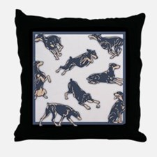 Dobes Doing Things Throw Pillow