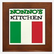 Nonnos Kitchen Italian Apron Framed Tile
