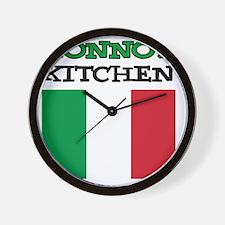Nonnos Kitchen Italian Apron Wall Clock