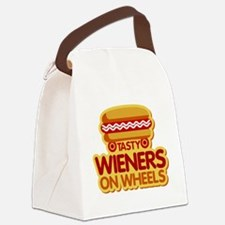 Tasty Wieners on Wheels Canvas Lunch Bag