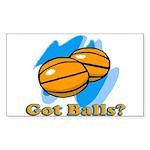 Got Basketballs? Rectangle Sticker