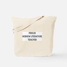 HEBREW LITERATURE teacher Tote Bag