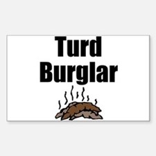Turd Burglar Rectangle Decal