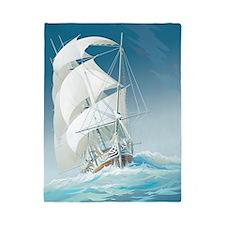 Sailing Ship Twin Duvet