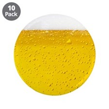 """Beer 3.5"""" Button (10 pack)"""