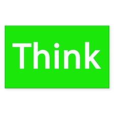 Think Rectangular Decal