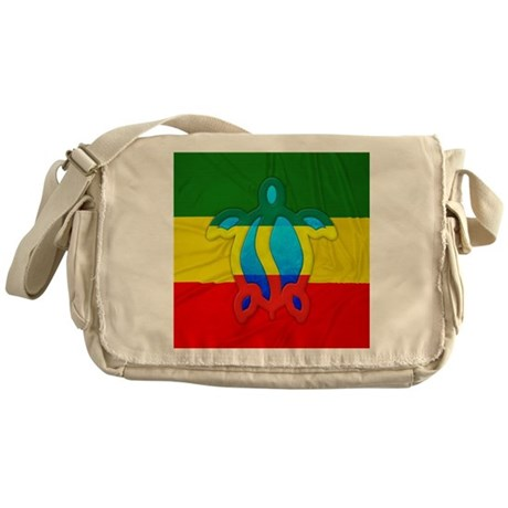 Rasta Flag Honu Messenger Bag