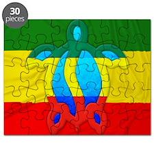 Rasta Flag Honu Puzzle