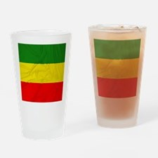 Rasta Flag Drinking Glass