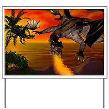 Flying dragons Yard Sign