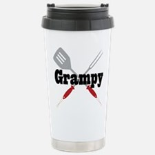 Grampy BBQ Grill Stainless Steel Travel Mug
