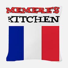 Memeres Kitchen French Apron Woven Throw Pillow