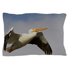 White Pelican Departure Pillow Case
