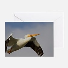 White Pelican Departure Greeting Card