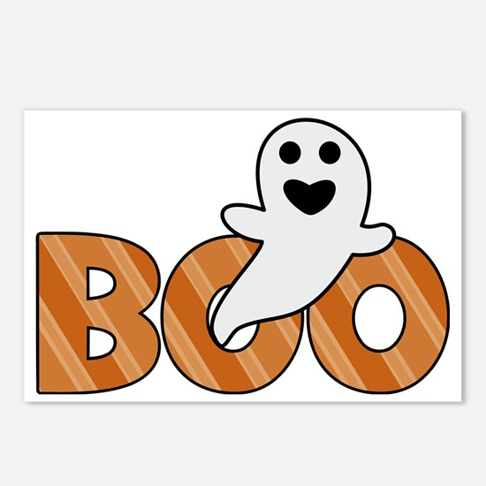 BOO Spooky Halloween Casp Postcards (Package of 8)
