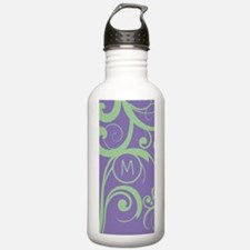 Your Monogram Whimsy Purple Water Bottle