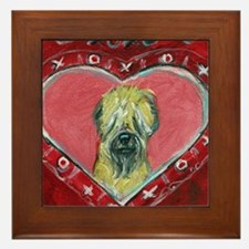 Soft Coated Wheaten Terrier Valentine Heart Framed