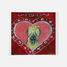 Soft Coated Wheaten Terrier Valentine Heart Throw