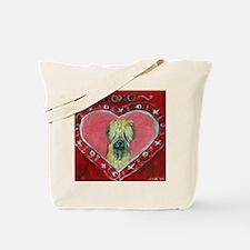 Soft Coated Wheaten Terrier Valentine Heart Tote B