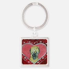 Soft Coated Wheaten Terrier Valentine Heart Keycha