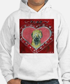 Soft Coated Wheaten Terrier Valentine Heart Hoodie